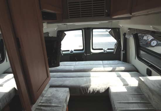 Roadtrek 190-Simplicity class B motorhome - interior - sleeping arrangement