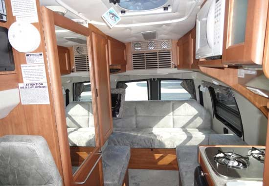 Roadtrek 190-Simplicity class B motorhome - interior - looking to rear