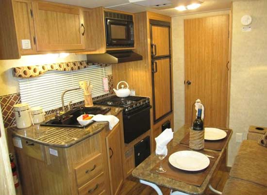 Skyline Koala travel trailer interior