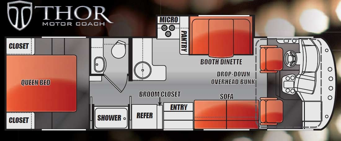 2012 Thor ACE gas motorhome floorplans