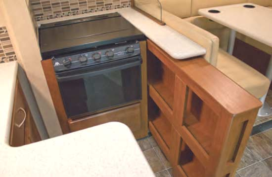 Thor ACE gas motorhome - interior - kitchen area