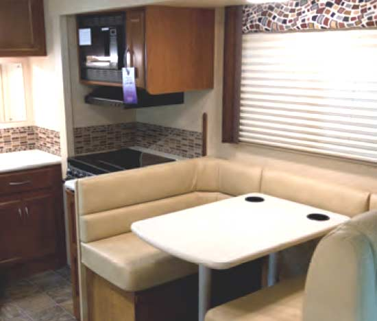 Thor ACE gas motorhome - interior - kitchen and dinette