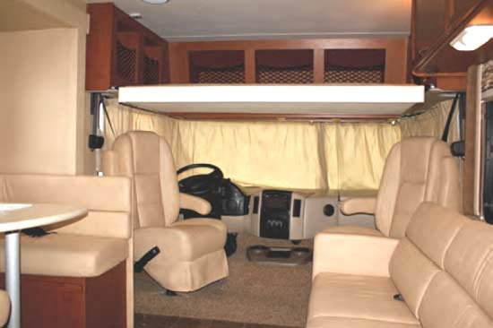 Thor ACE gas motorhome - interior - looking forward