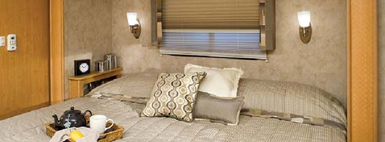 Damon Daybreak class A motorhome bedroom