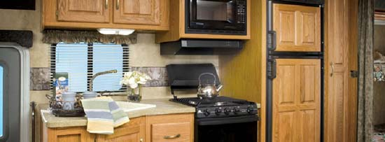 Damon Daybreak class A motorhome kitchen