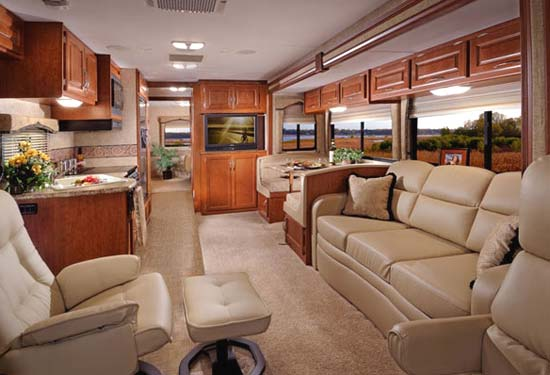 Four Winds Hurricane class A motorhome interior - main living area