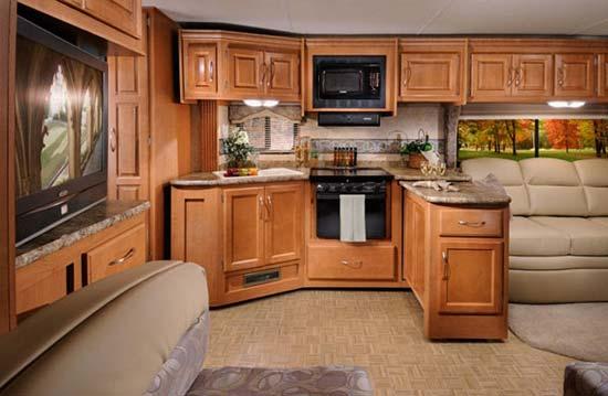 Four Winds Hurricane class A motorhome interior -kitchen area