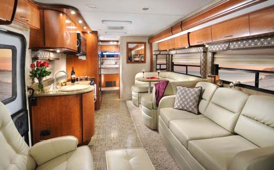 Four Winds Serrano Class A Motorhome Interior