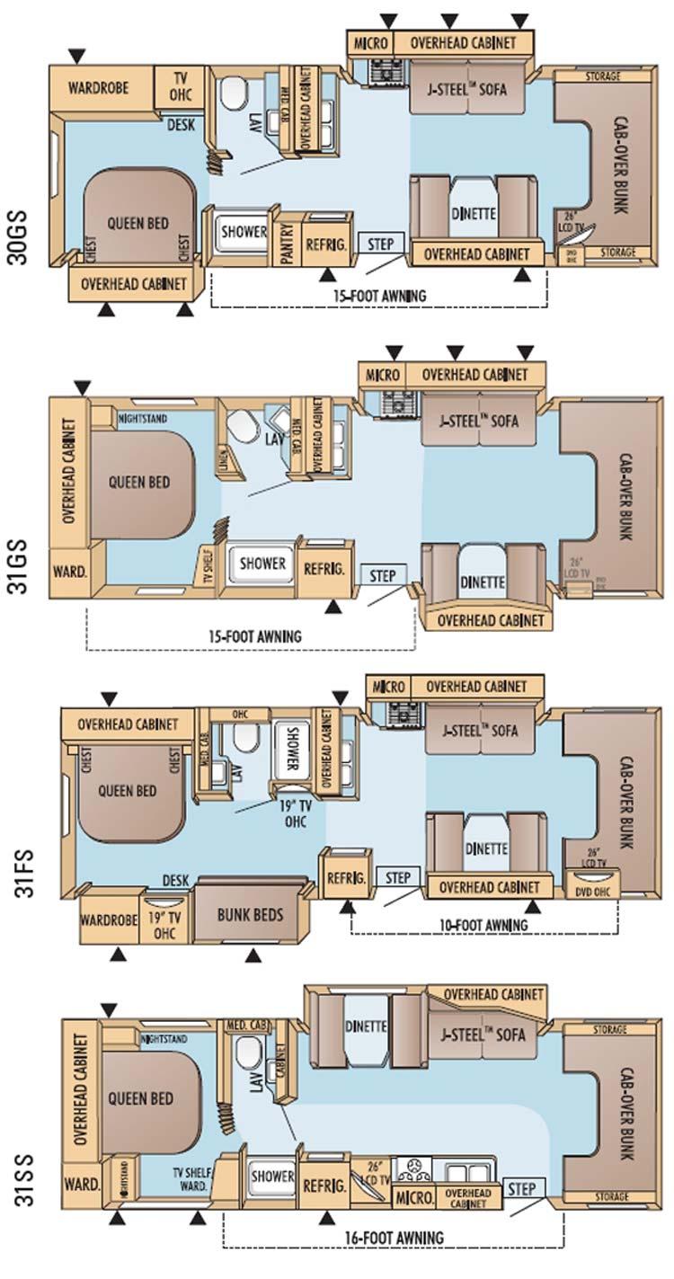 Jayco Greyhawk Class C Motorhome Floorplans Large Picture