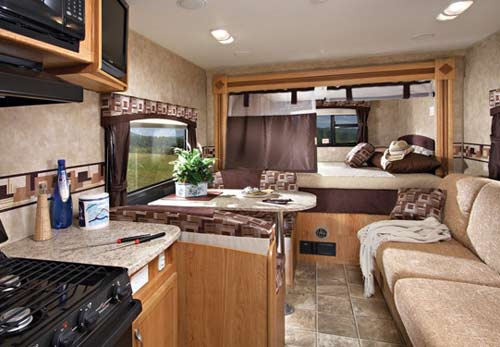 Jayco Jay Feather EXP Travel Trailer Interior Showing Expandable Section