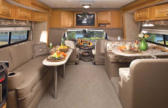 Jayco Melbourne class C motorhome interior - 29D model