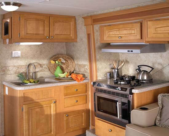 Jayco Melbourne class C motorhome kitchen arrangement - 29D model