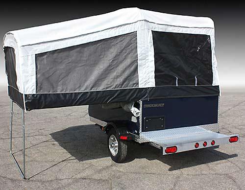 Quicksilver 6.0 tent camper - exterior open