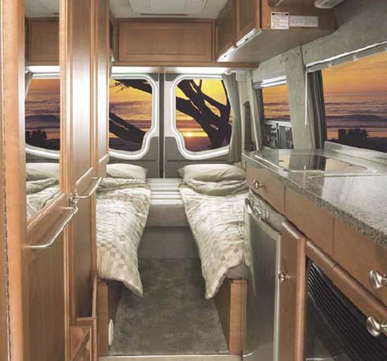 Roadtrek RS Adventurous Class B Motorhome Rear Sleeping Arrangement
