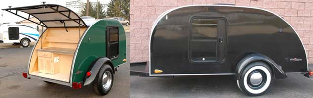 Silver Shadow Teardrop Camper Trailer by Little Guy exterior pictures - shortest and longest models