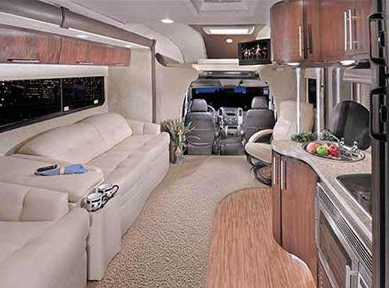 Coachmen Prism class C motorhome interior looking forward