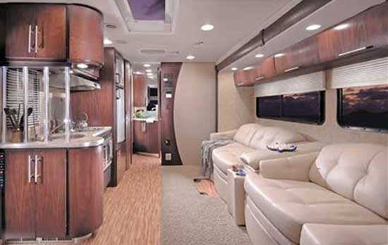 Coachmen Prism class C motorhome interior looking to rear