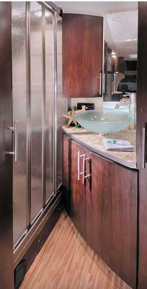 Coachmen Prism class C motorhome interior - bathroom