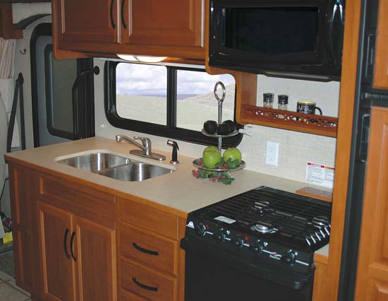 Fleetwood Bounder Classic class A motorhome interior - kitchen