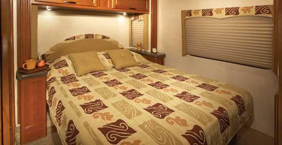 Fleetwood Jamboree class C motorhome interior - bedroom