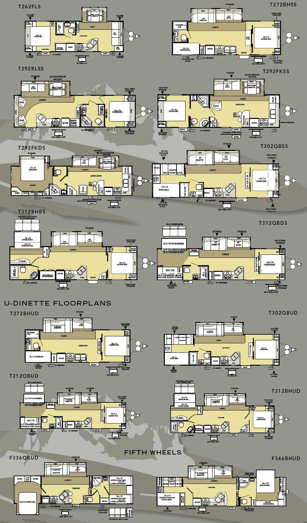 Forest River Salem La Travel Trailer Floorplans Large