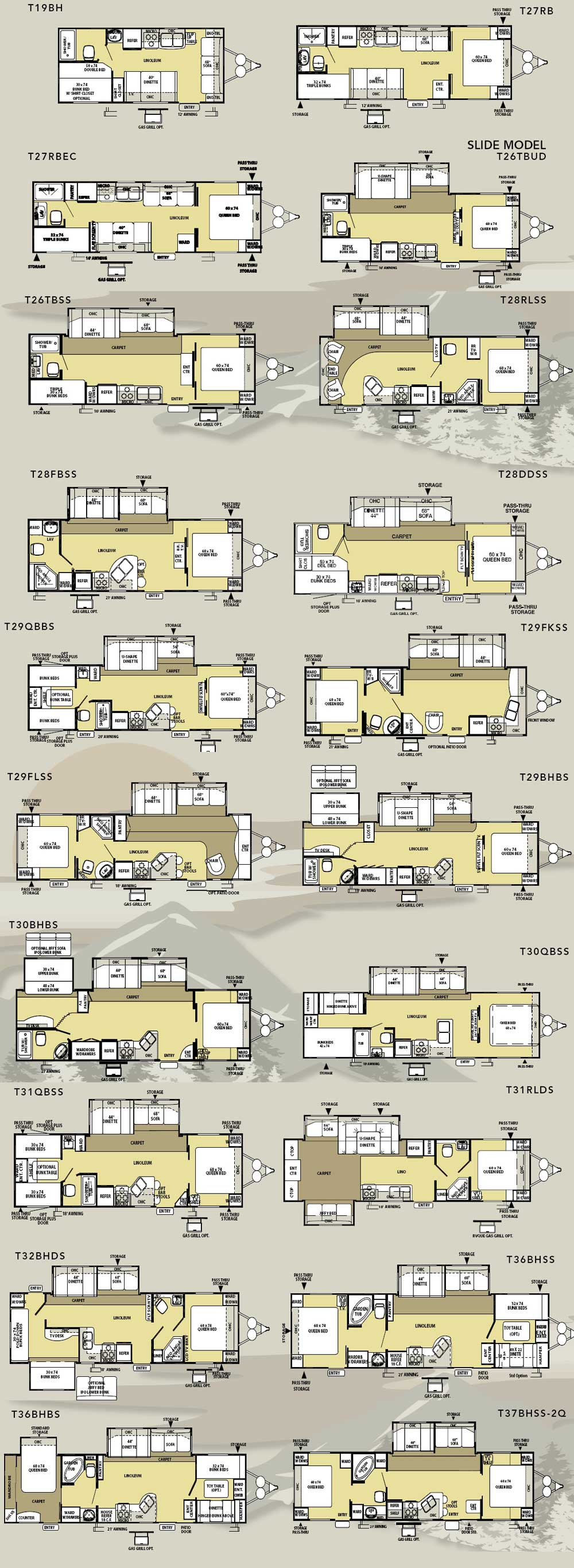 Forest River Salem Le Travel Trailer Floorplans Large