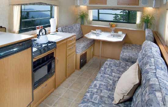 Hi Lo TowLite 15T Small Travel Trailer Interior