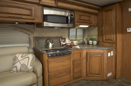 Jayco Embark class C diesel motorhome interior - kitchen area