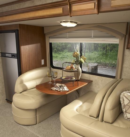 Jayco Embark class C diesel motorhome interior - dinette