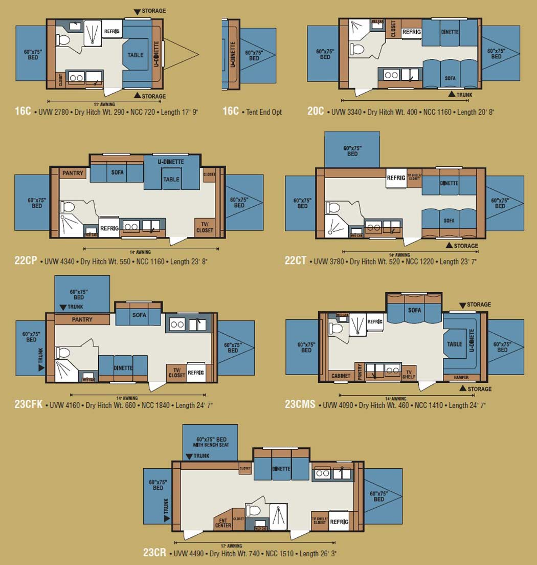 Forest River 5th Wheel Floor Plans Kz Coyote Travel Trailer Floorplans Large Picture