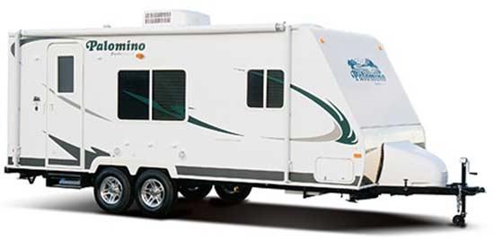 Palomino Gazelle micro-lite travel trailer exterior