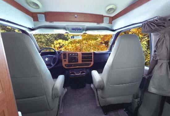 Roadtrek 190 Popular class B motorhome interior looking forward