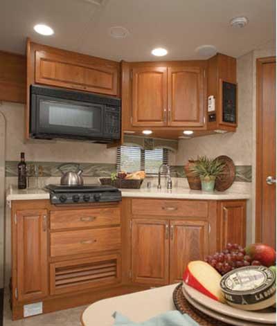 Holiday Rambler Admiral class A motorhome interior - kitchen