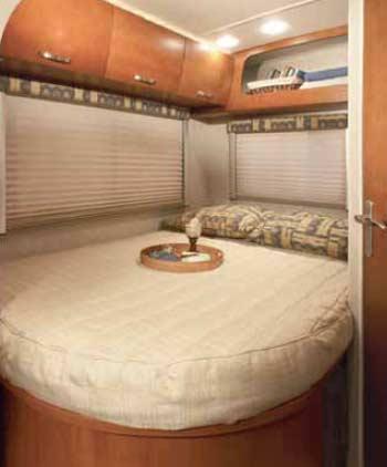 Fleetwood Icon class C motorhome bedroom 24D model