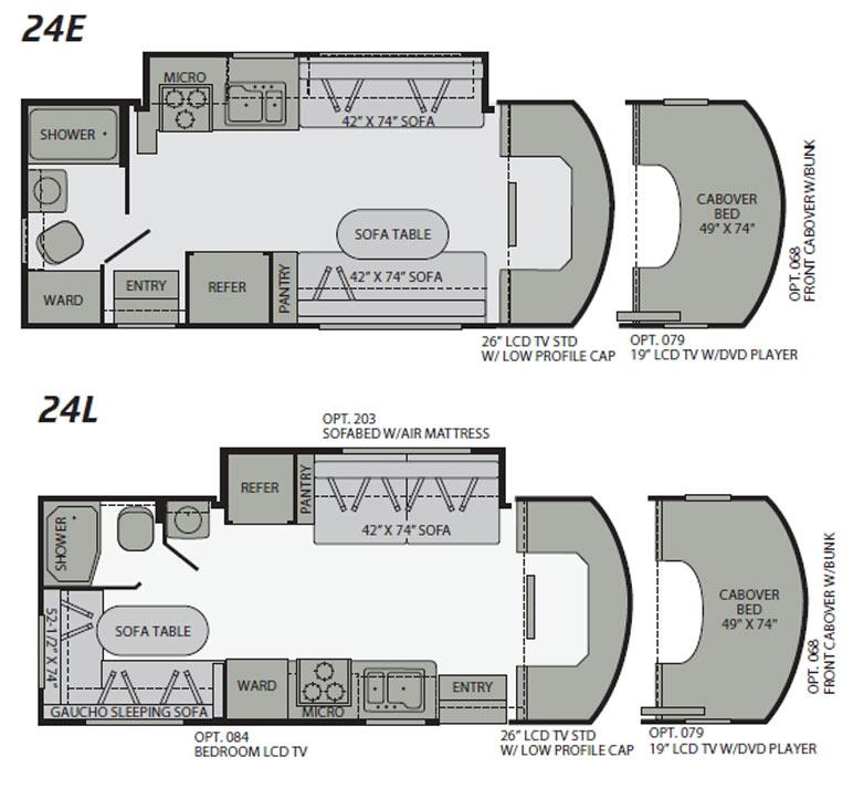 2010 Fleetwood Quest class C motorhome floorplans