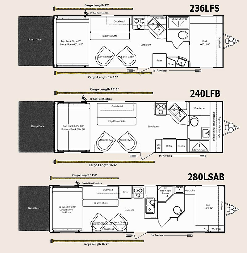 2010 Keystone Energy Toy Hauler Travel Trailer Floorplans