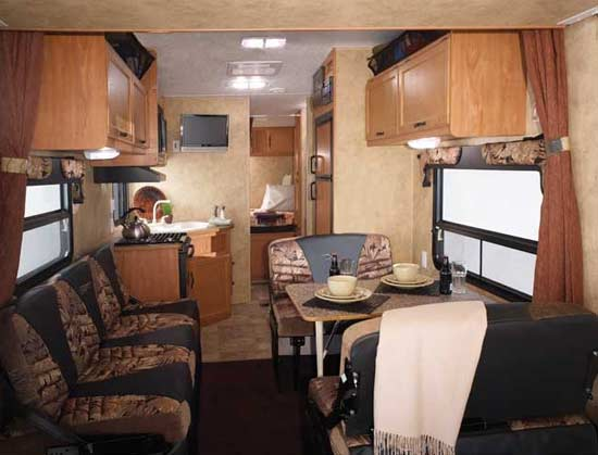 Keystone Energy Toy Hauler Travel Trailer Interior