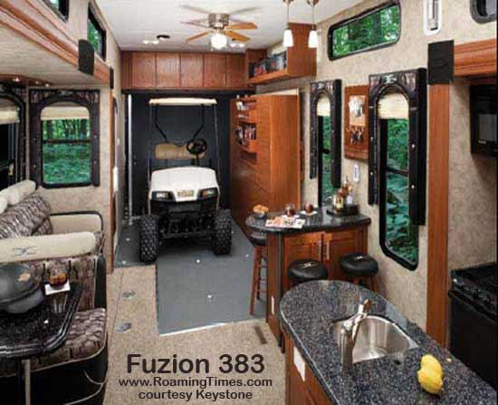 2010 Keystone Fuzion Toy Hauler Fifth Wheel Surv Roaming
