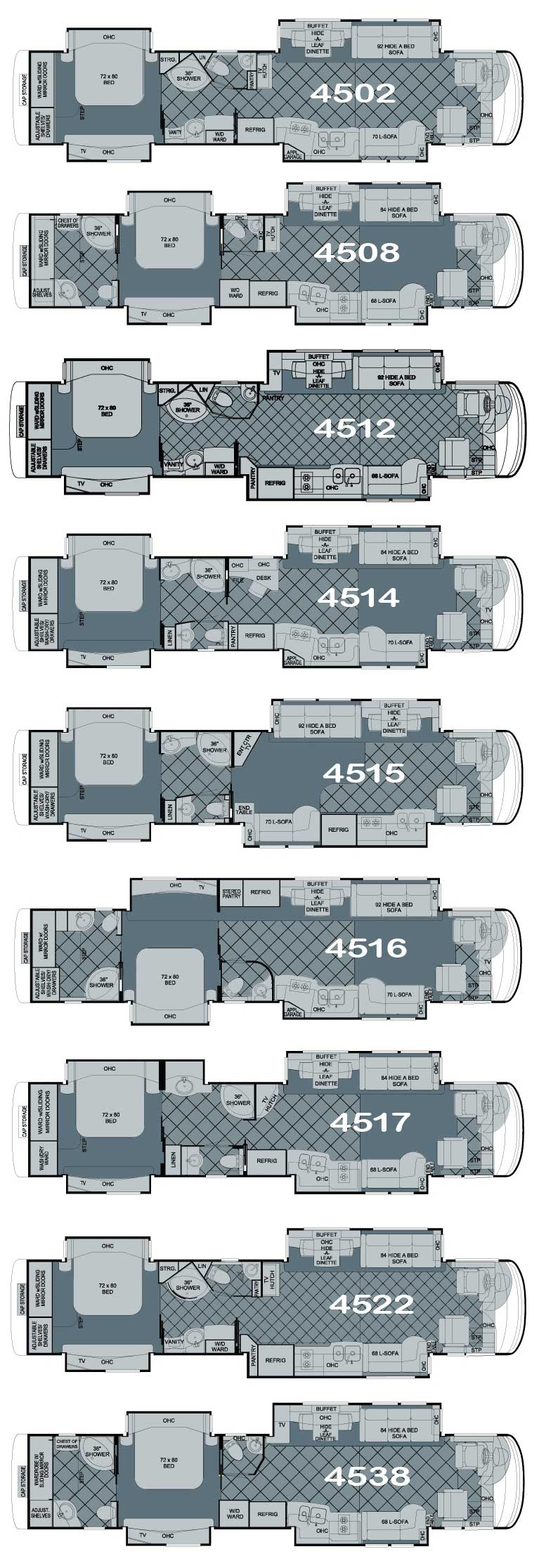 Newmar Essex Luxury Motorhome Floorplans on motorhome luxury motor coach