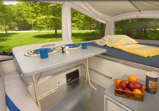 Quicksilver 6.0 automotive tent camper interior