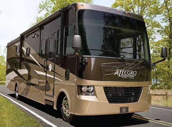 Tiffin Allegro class A motorhome exterior
