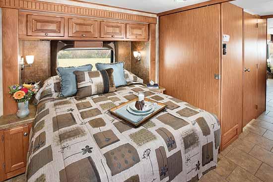 Tiffin Allegro class A motorhome interior - bedroom