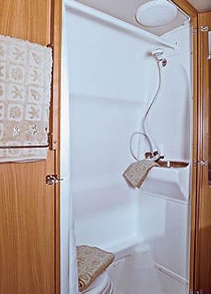 Winnebago ERA 2010  class B motorhome bathroom