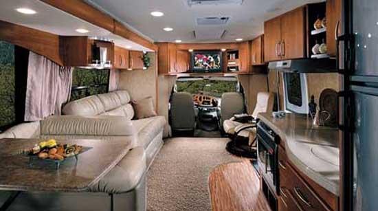 Coachmen Concord class C motorhome interior - 301SS model