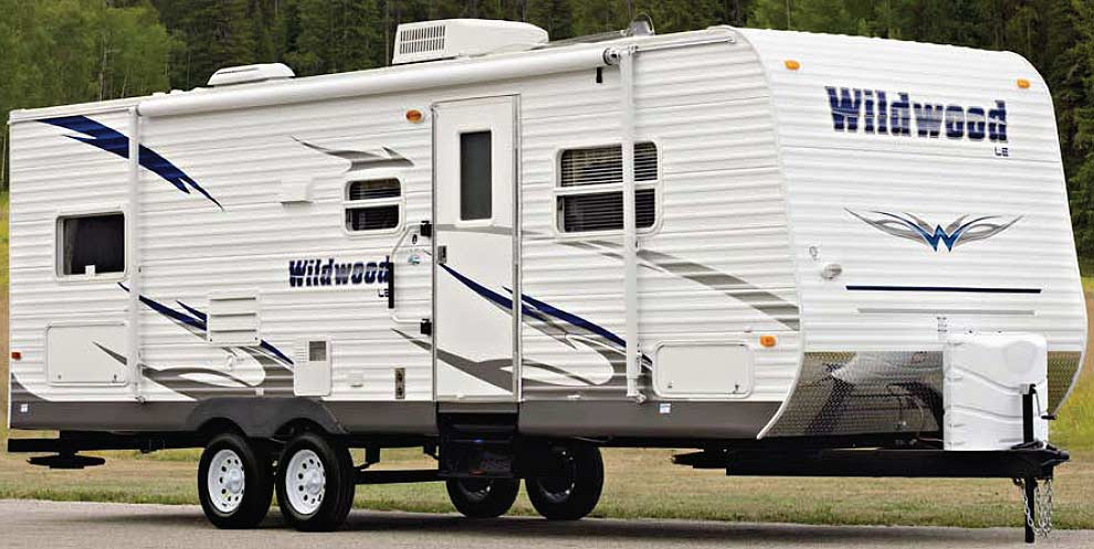 Forest River Wildwood travel trailer exterior