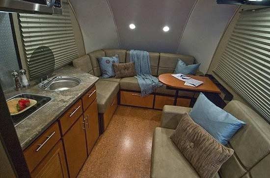 Galileo RS travel trailer interior looking forward