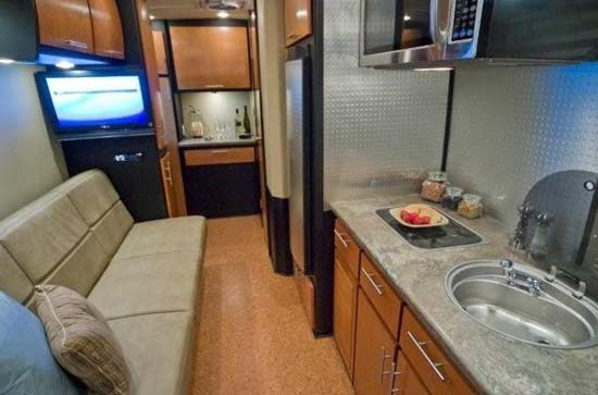 Galileo RS travel trailer interior looking to rear