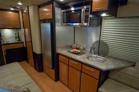 Galileo RS travel trailer interior kitchen