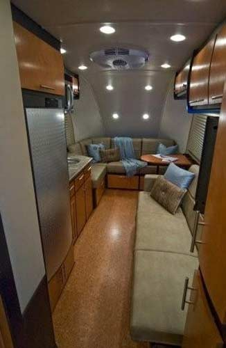 Galileo RS travel trailer interior long forward view