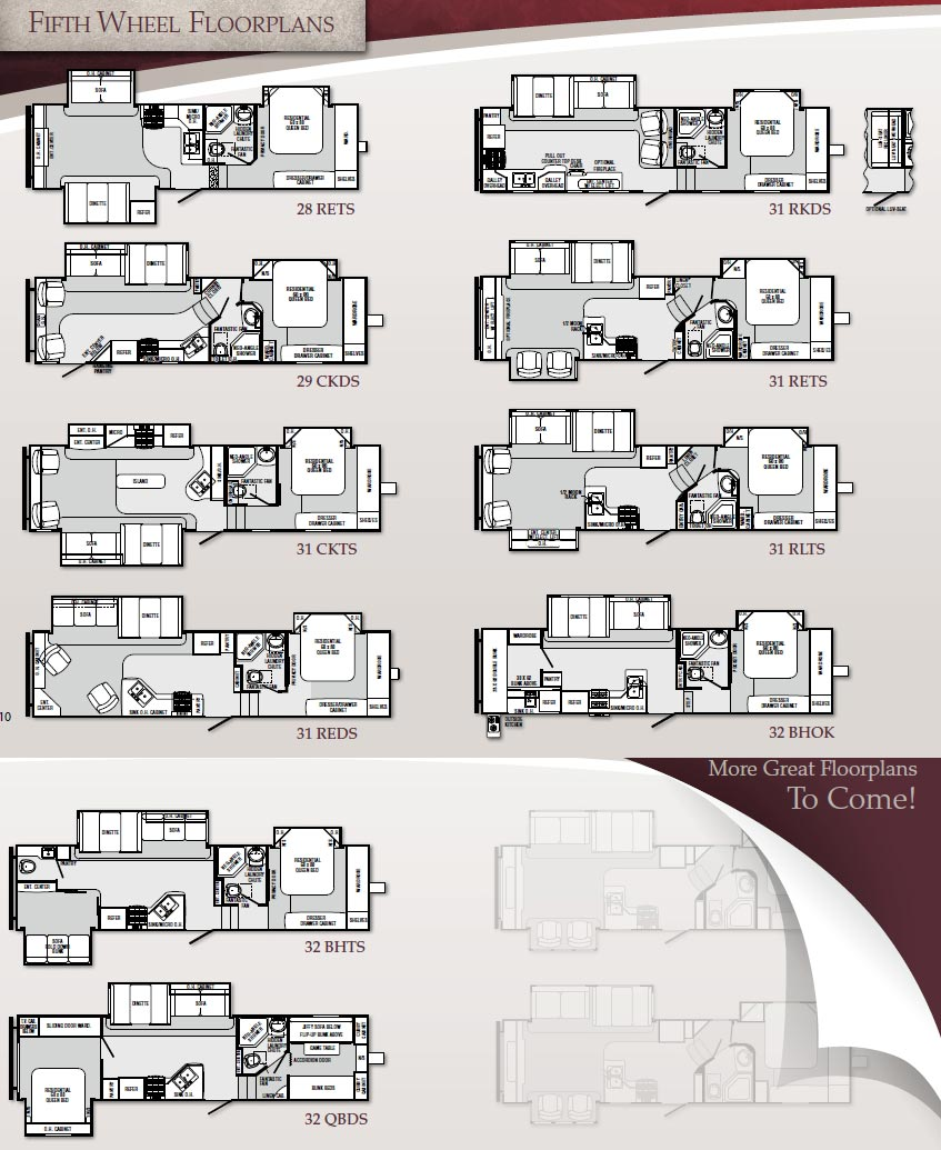 Palomino Sabre fifth wheel floorplans - large picture